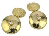 Torrini 18K Yellow Gold Diamond Cufflinks