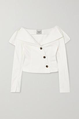 A.W.A.K.E. Mode Off-the-shoulder Cotton-poplin Blouse - White