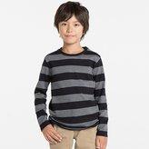 Uniqlo Boys Striped Crewneck Long Sleeve T Shirt