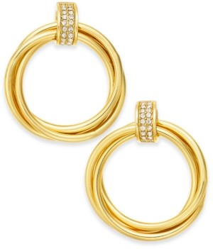 Alfani Gold-Tone Pave Ring Small Hoop Earrings, Created for Macy's
