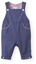 Jacadi Infant Boys' Gingham Trimmed Denim Overalls - Sizes 3-12 Months