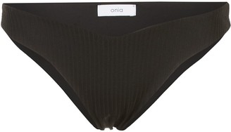 Onia Chiara ribbed bikini bottoms