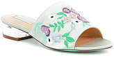 Betsey Johnson Ryder Satin Floral Embroidered Peep Toe Dress Mules