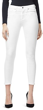 Good American Good Legs Ankle Skinny Jeans in White001