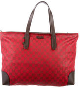 Gucci Leather-Accented GG Tote