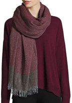 Eileen Fisher Colorblock Wool-Cashmere Wrap, Raisonette