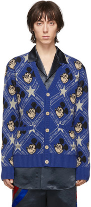 Gucci Blue Wool Disney Edition Cardigan