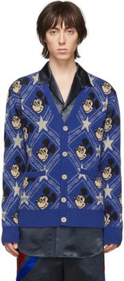 Gucci Blue Wool Disney Edition Cardigan