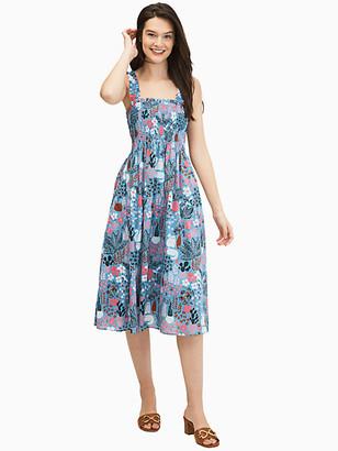 Kate Spade Casual Garden Posy Smocked Dress