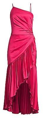 Flor Et. Al Women's Izmal Pleated Asymmetrical Midi Dress
