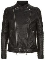 Balmain Armour Leather Biker Jacket