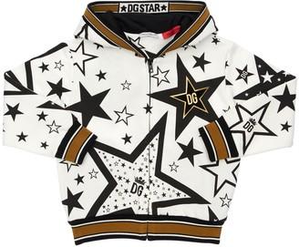 Dolce & Gabbana Stars Print Cotton Sweatshirt Hoodie