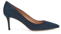 Suede court shoes with 70 mm 2.76 inch heel