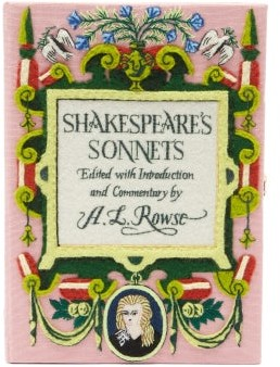 Olympia Le-Tan Shakespeare's Sonnets Embroidered Box Clutch - Pink Multi