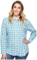 Roper Plus Size 0681 Turquoise and Aqua Plaid