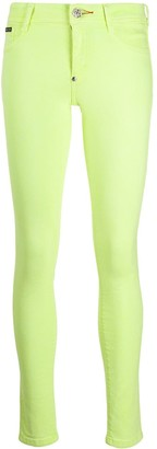 Philipp Plein Fluorescent Yellow Leggings