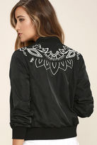 MinkPink Mink Pink Valley of the Vine Black Bomber Jacket