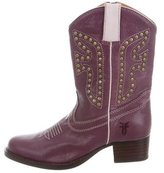 Frye Girls' Studded Cowboy Boots
