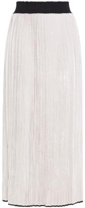 Gentry Portofino Gentryportofino Pleated Velvet Midi Skirt