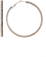 Natasha Accessories Crystal Hoop Earrings