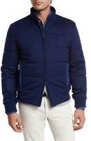 Loro Piana Travel Cashmere Stretch Storm System® Jacket, Blue Lagoon