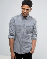 Esprit Slim Fit Long Sleeve Denim Shirt