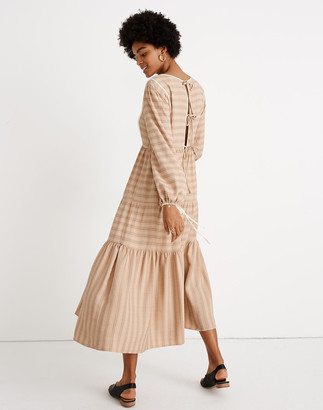 Madewell x Christy Dawn Striped Tallulah Tie-Back Midi Dress