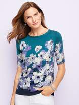 Talbots Painted-Flowers Sweater