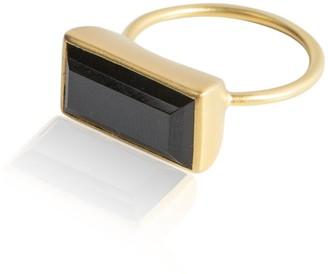 Ring Black Adore Adorn Gloria Onyx & Matte Gold