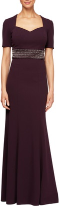 Alex Evenings Embellished Trumpet Gown