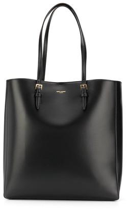 Saint Laurent Double Handle Leather Tote Bag