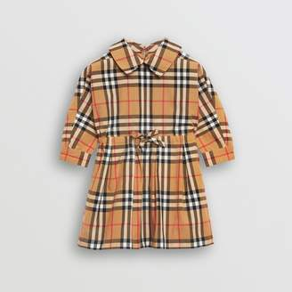 Burberry Childrens Vintage Check Cotton Drawcord Dress Size: 6M