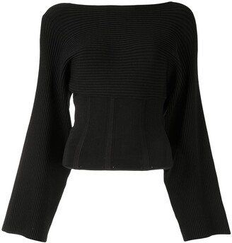 Dion Lee Fitted-Waist Ribbed Jumper