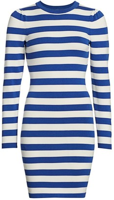 Puff Sleeve Striped T-Shirt Dress