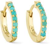 Jennifer Meyer Huggy 18-karat Gold Turquoise Hoop Earrings - one size