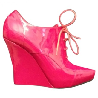 Le Silla Red Patent leather Ankle boots