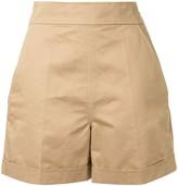Marni high-waisted cotton-blend shorts