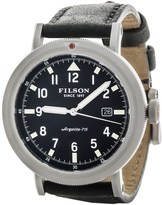 Filson Scout Black Dial Watch - Horween® Leather Band (For Men)