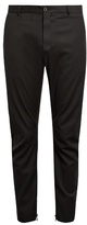 Lanvin Pinstriped Biker Trousers