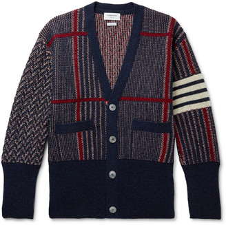 Thom Browne Shetland Wool-Jacquard Cardigan