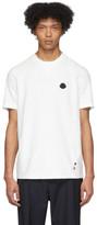 Moncler White Knit Logo T-Shirt
