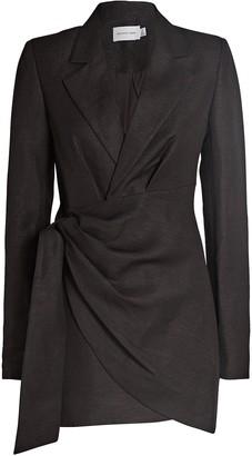 Significant Other Tempo Draped Mini Blazer Dress
