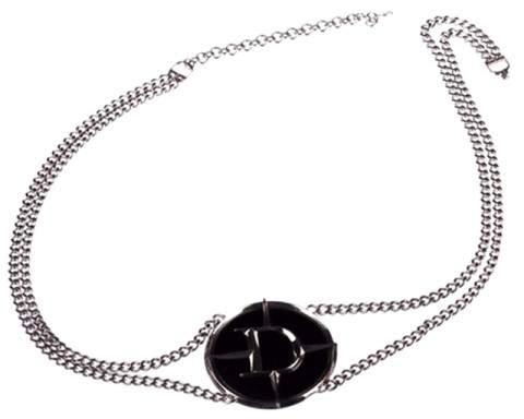 Christian Dior Faux Black Onyx Belt Necklace