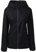 Lands' End Women's Packable Nylon Jacket-Aqua Shell Floret