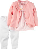 Carter's 3-pc. Pink Floral Cardigan Set - Baby Girls newborn-24m