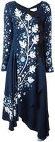 Peter Pilotto leaf stencil print dress - women - Viscose/Spandex/Elastane/Polyester/Acetate - 10