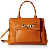 MG Collection Shea Structured Tote Top Handle Bag