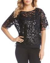 Karen Kane Sequined Mesh Top