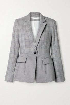 Veronica Beard Suri Dickey Houndstooth Cotton-blend Tweed Blazer - Black