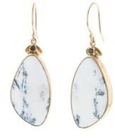 Jamie Joseph Asymmetrical Dendritic Opal Earrings